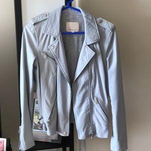 Rebecca Taylor soft leather jacket babyblue size 2